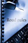 Road Rules, Car Key And Computer Keyboard