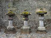 Stone Lanterns at japanese temple