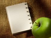 Notepad And Apple