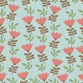 Tulip design pattern seamles illustration