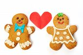 Gingerbread Cookies Isolated