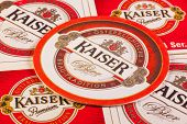Beermats from Kaiser Beer