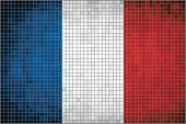 Mosaic flag of France