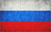 Abstract Mosaic flag of Russia