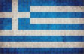 Abstract Mosaic Flag of Greece