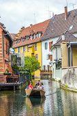 People Visit Little Venice In Colmar, France