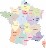 France Administrative Map