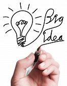 Drawing Big Idea Bulb
