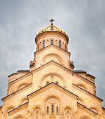 picture of trinity  - Famous Holy Trinity Cathedral of Tbilisi Georgia - JPG
