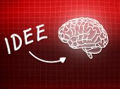 Idee Brain Background Knowledge Science Blackboard Red