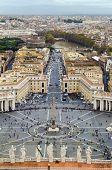 Постер, плакат: View Of St Peter Square And Rome Vatican