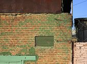 Ventilation grille in the brick wall