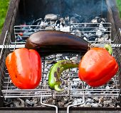 Baked Vegetables On A Grill