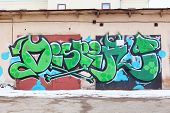 Perm, Russia - Apr,25, 2014: Graffiti On Garage. Biggest Graffiti Wall Of Russia Is Located In Perm