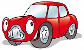 Happy Cartoon Car