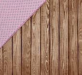 Wood Background With Tissue