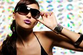 Woman In Fashion Style Sunglasses