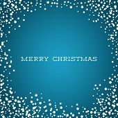 Merry Christmas Card - Blue