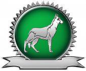 Emblema do criador de pastor alemão