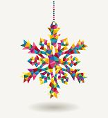 Christmas Holidays Triangle Snowflake