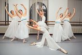 Ballerina Dancers Pose for Recital Photo