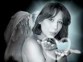 beautiful girl in image of the angel