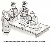 "stock photo of trustworthiness  - ""I would like to recognize your accounting achievements."" - JPG"