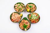 Set Of Five Different Fried Rice