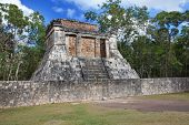 Chichen Itza pyramid Yucatan Mexico .Cityscape in a sunny day