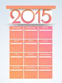 Stylish calender of year 2015 for Happy New Year celebrations.