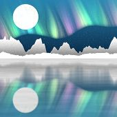 foto of north-pole  - Arctic pole landscape generated hires texture background - JPG