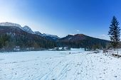 Strazyska valley in snowy Tatra mountains, Poland