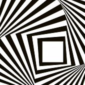 Geometric Black and White Vector Pattern