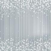 Bright Silver Background with Stars. Festive Design