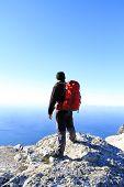 Trekking in Caucasus mountains