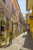 LA PAZ, BOLIVIA, MAY 8, 2014: The street Calle Jaen near museums complex