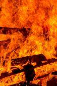 Burning Wood Pallets