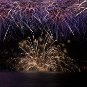Firework Over The Water