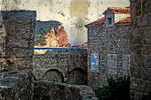 Old Photos Wit Fortress Of The Old Town Of Budva, Montenegro