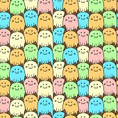 Seamless vector pattern with cats