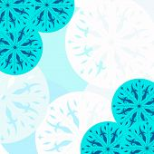 Pattern With Blue Snowflakes