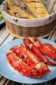 Grilled crab with Frensch baguette