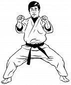 Defensive Stance (Karate001)