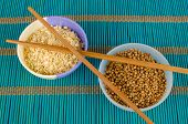 pic of citronella  - Dried lemon grass and coriander seeds aromatic condiments - JPG