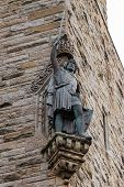 William Wallace Statue At The National Wallace Monument In Stirling, Scotland