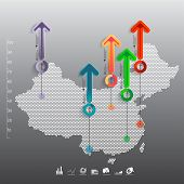 Abstract 3D Paper Infographics-china
