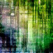 Old designed texture as abstract grunge background. With different color patterns: yellow; gray; green; blue