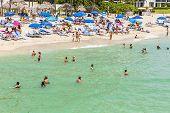 People Enjoy The Jade Beach