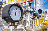 foto of pressure vessel  - Pressure gauge for measuring pressure in the system - JPG