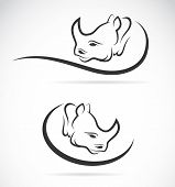 Vector Image Of An Rhino Design On White Background
